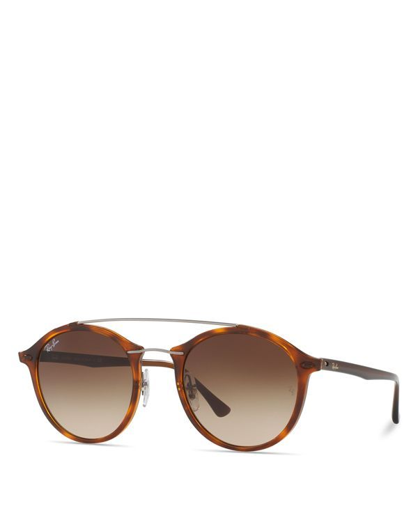 A sophisticated update to the classic aviator, these tortoise-shell print sunglasses from Ray-Ban modernize your sunny-day style with sleek double-bar frames. | Acetate | Imported | 100% UV protection