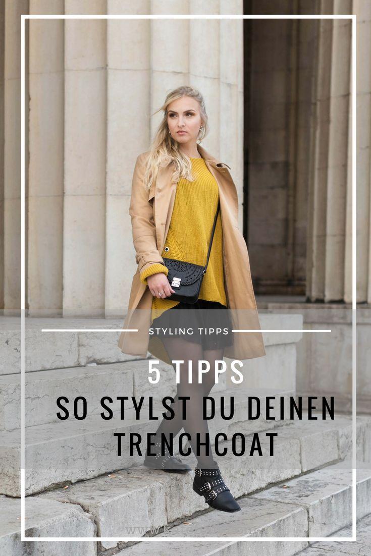 5 STYLING TIPPS! Das musst du wissen, wenn du einen Trenchcoat trägst! Mantel, Trenchcoat, beige, Herbst