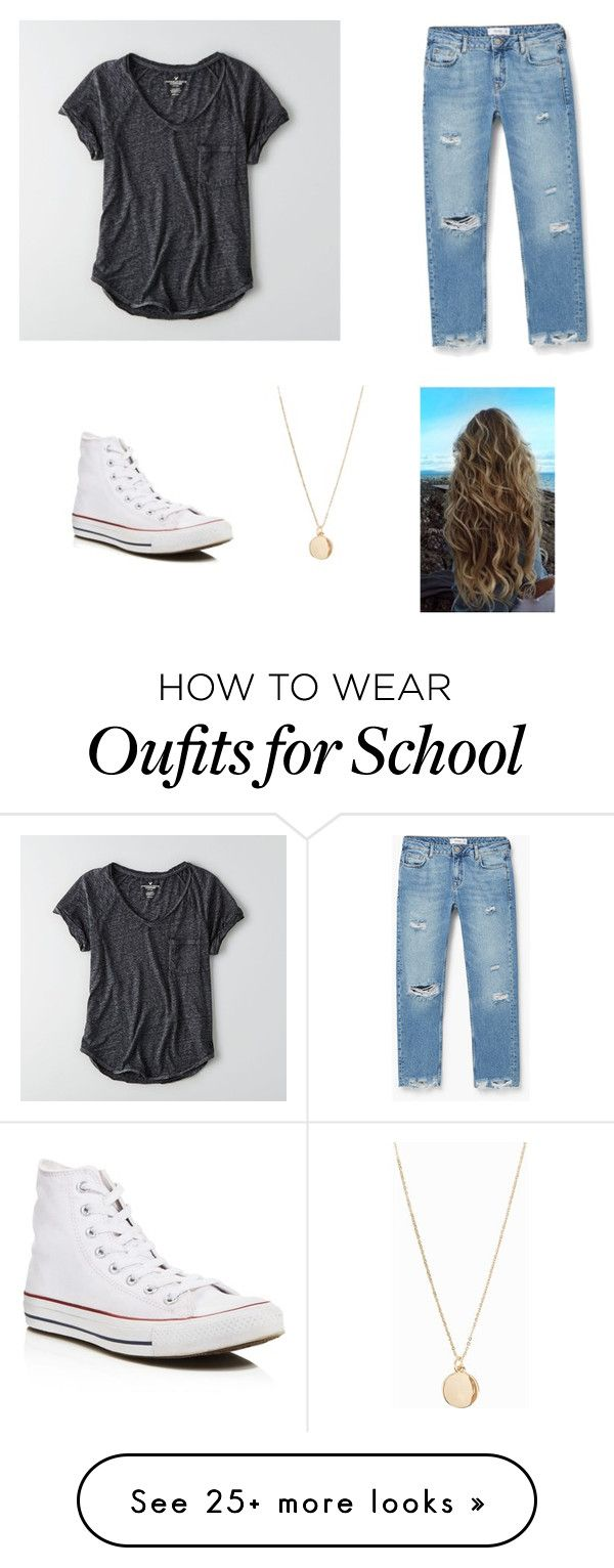 School by itstarynb on Polyvore featuring American Eagle Outfitters, MANGO, Converse and NLY Accessories