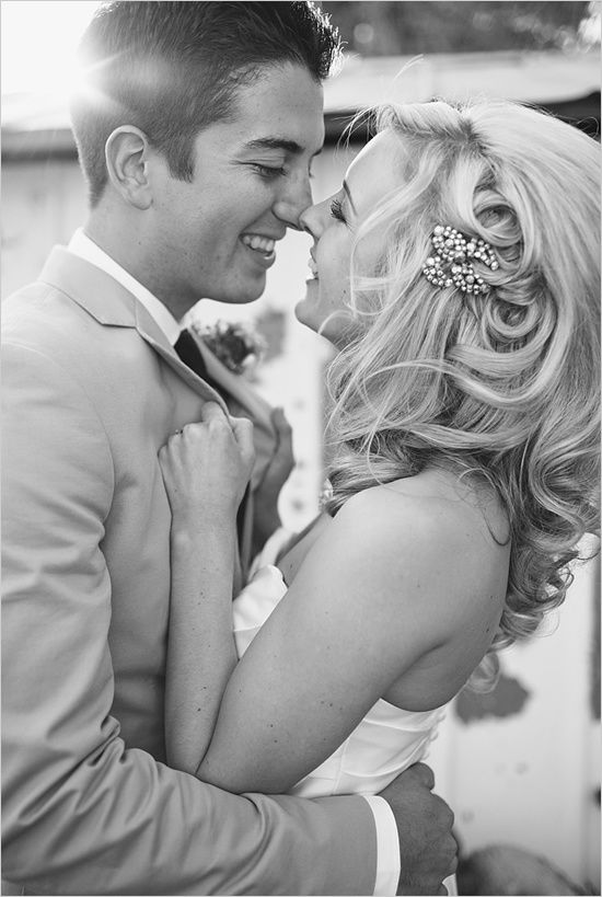 Love this picture and her hair style   Wedding