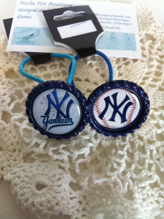 Check out this item in my Etsy shop https://www.etsy.com/listing/220856804/new-york-yankees-themed-pony-tail #NYYankees #handmade #ponytailholders