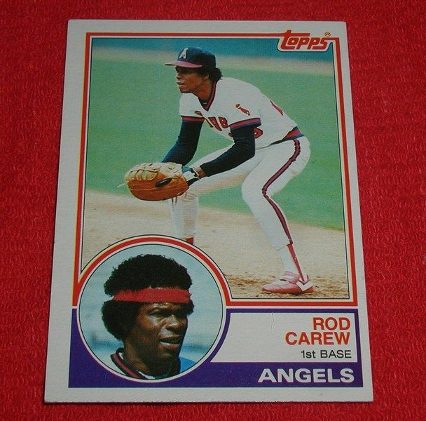 Rod Carew (HOF) 1983 Topps #200 California Angels baseball card *FREE SHIPPING!*