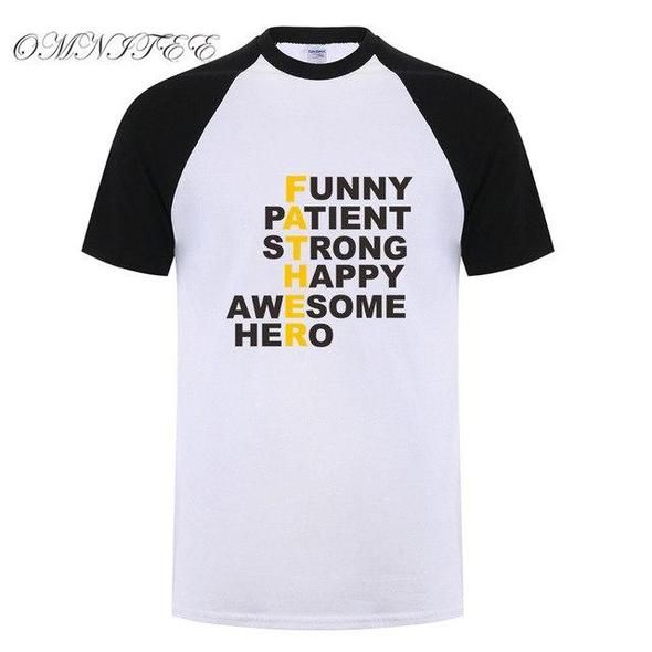 Omnitee New Father's Day Gift T Shirts Men Tops Dad T Shirteticdress