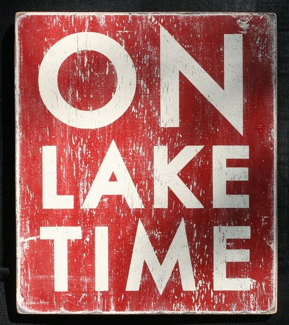 On Lake Time 18x20 by GoJumpInTheLake on Etsy, $45.00
