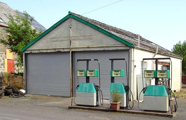 Petrol station in Scotland