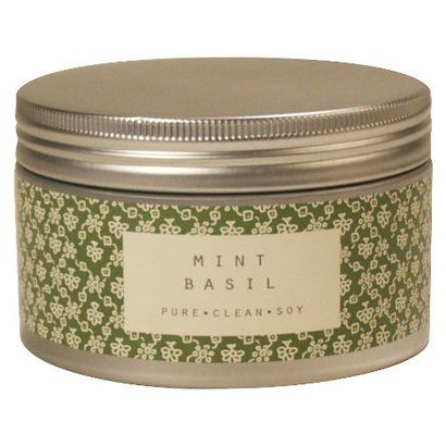 Mint basil candle from Target.