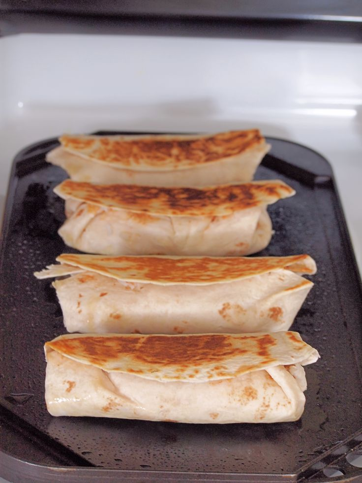 Grilled Burritos on the griddle