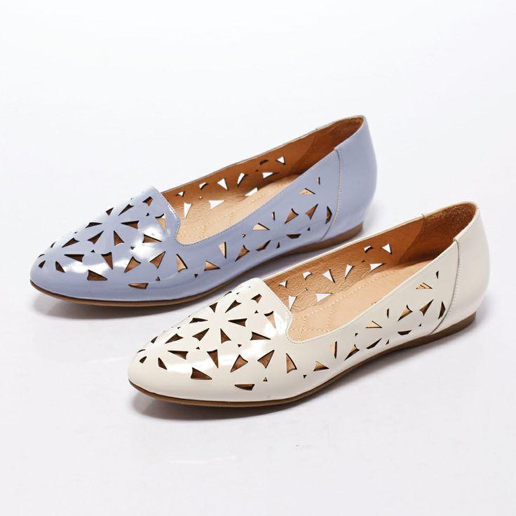 1-2380 Fair Lady 鏤空設計潮流平底鞋 藍 - Yahoo!奇摩購物中心