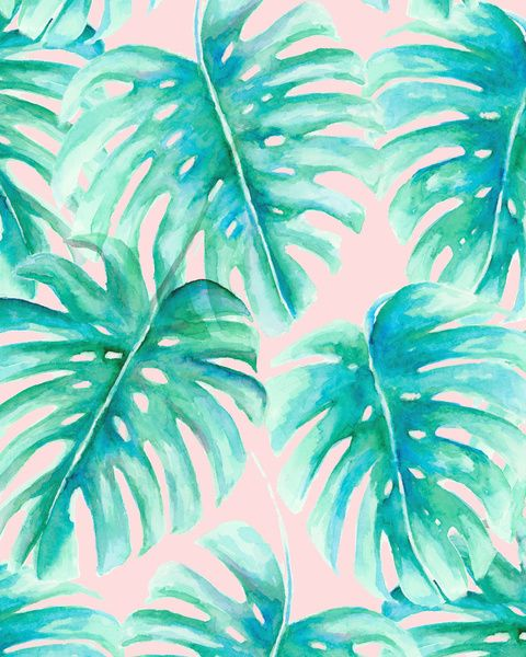 Paradise Palms Blush Art Print by Jacqueline Maldonado | Society6 palms, palm leaf pattern, palm pattern, tropical, blush palms on pink, botanicals on blush