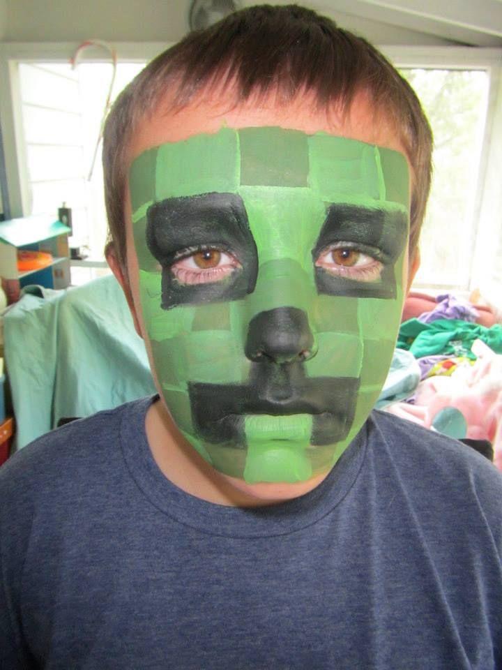 Facepainting by Snowqueen Minecraft creeper Plus