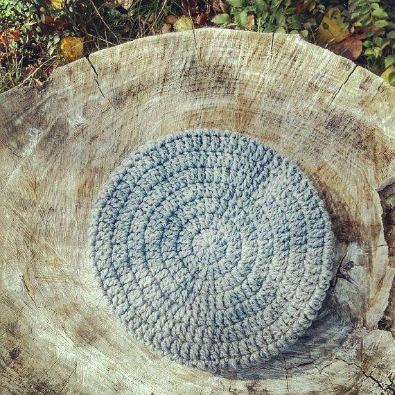 Cappello basco in lana biologica grigio perla cozy di Radicidilana