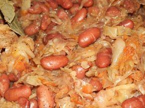 Тушеная капуста с фасолью : Вегетарианская и постная кухня