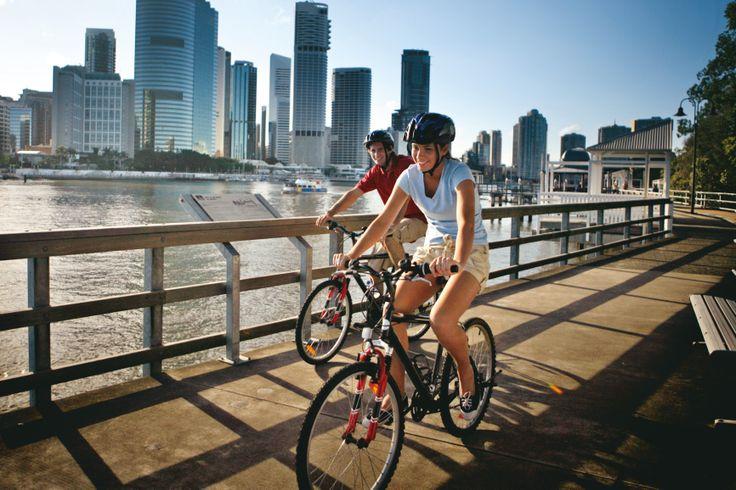 Brisbane Bike Tours: Explore Brisbane using the many cycle paths around the city. http://bit.ly/1n5taw5 #Brisbane #Queensland #Australia #Travel