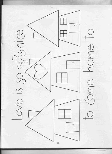 Wallquilts036 by ALEPE ATELIÊ, via Flickr Love lives here bird house, people house, dog house...