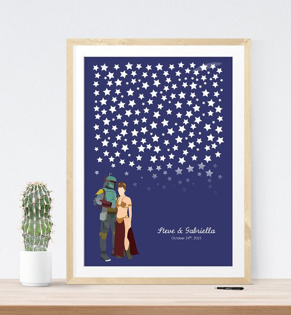 Star Wedding guest book alternative poster by MissDesignBerryInc