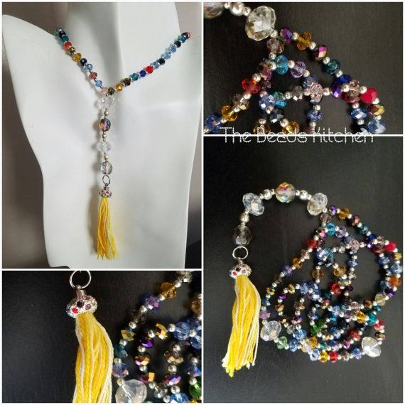 Multicolored Asian Crystal Islamic Prayer by TheBeadsKitchen