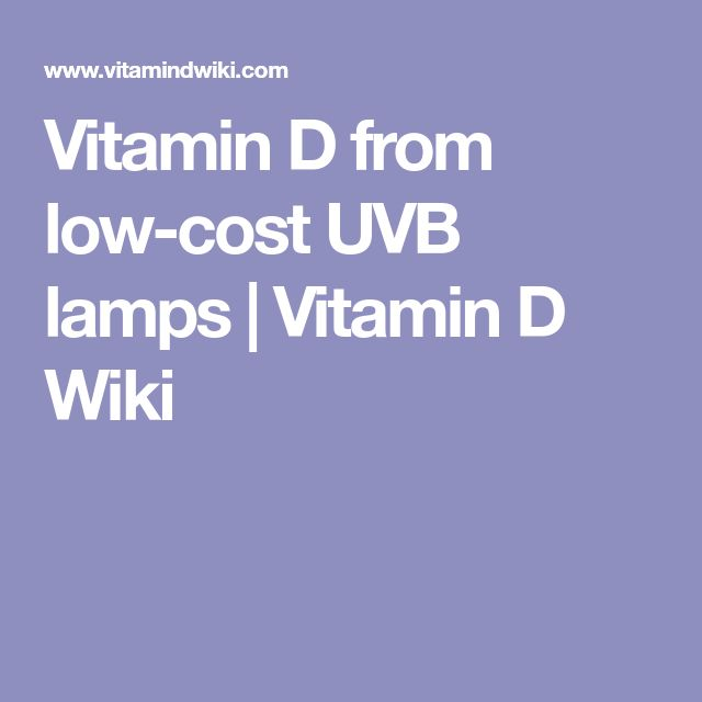 Vitamin D from low-cost UVB lamps | Vitamin D Wiki