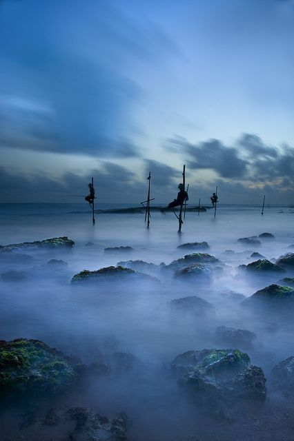The Fishermen Blue,Koggala, Sri Lanka,