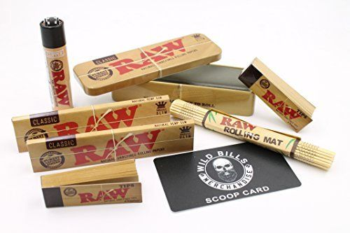 Amazon com: Bundle - 7 Items - Raw- 2 King Size Slim Rolling