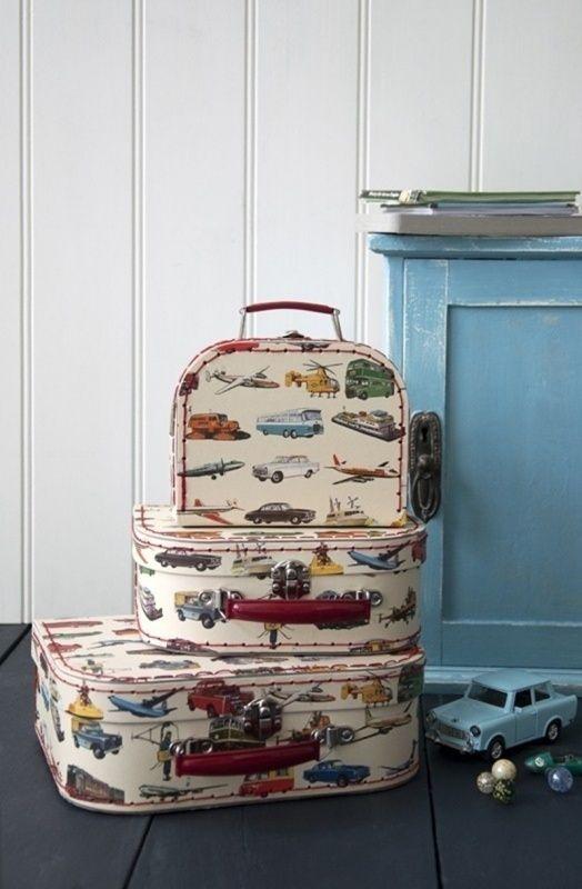 Vintage cars koffertjes van Sass & Belle