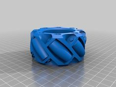 Parametric Lego Mindstorms Mecanum Wheel 82 mm (iteration 2) by projunk - Thingiverse