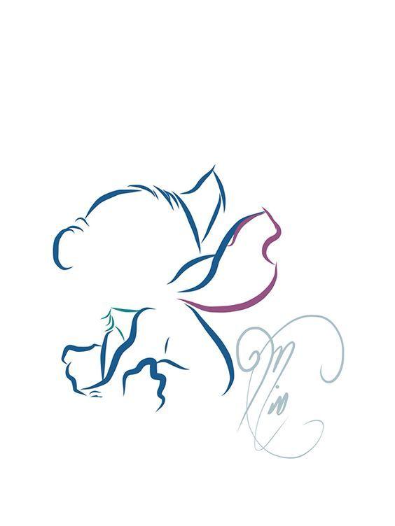 Tattoo line art - Disney or Disney inspired