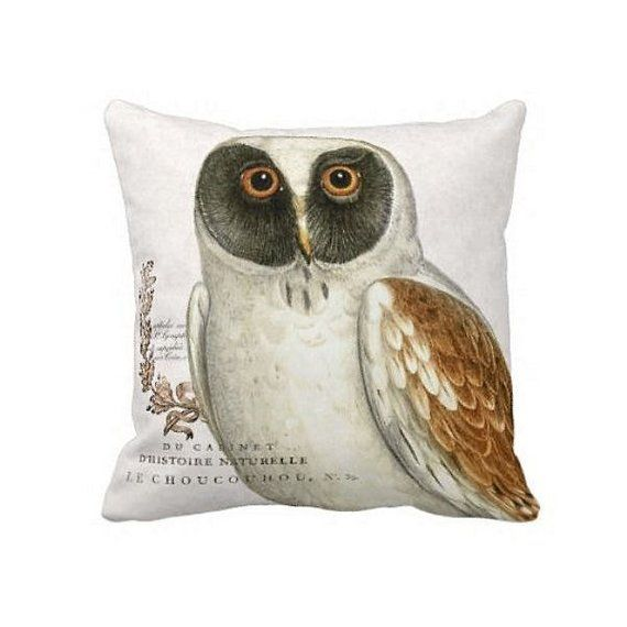 Pillow Cover Autumn Owl Etsy Pillows Bird Throw Pillow Burlap Pillows