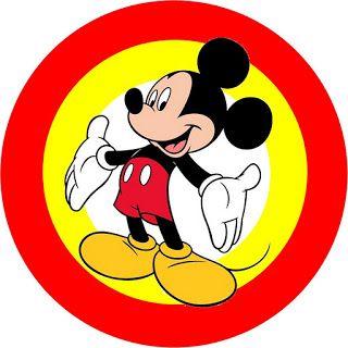Mickey Tradicional - Kit Completo com molduras para convites, rótulos para…