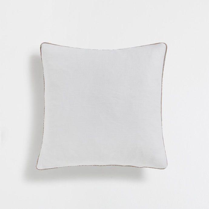 Εικόνα 1 του προϊόντος Λινό κάλυμμα μαξιλαριού λευκό χωρίς σχέδιο με ρέλι σε αντίθεση