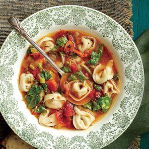 Classic Italian Soup Recipes   Chicken-and-Prosciutto Tortelloni Soup    MyRecipes.com