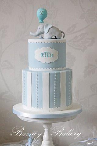 Christening cake, elephant christening cake