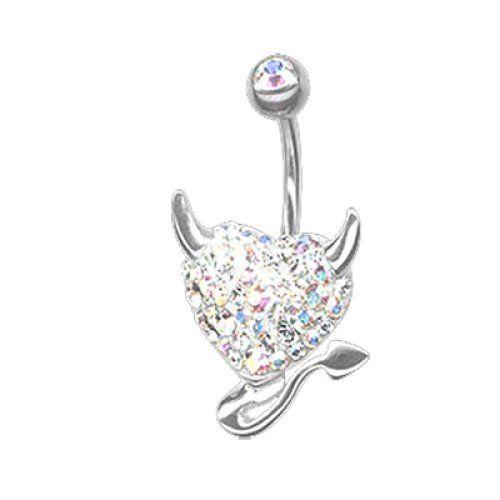 Piercing da Ombelico Silver Devilheart Titanio,Argento e Cristalli Swarovski Bianchi Bananabell Crystal Evolution http://www.amazon.it/dp/B00QKLVA7K/ref=cm_sw_r_pi_dp_.VUavb0ZHGWRF