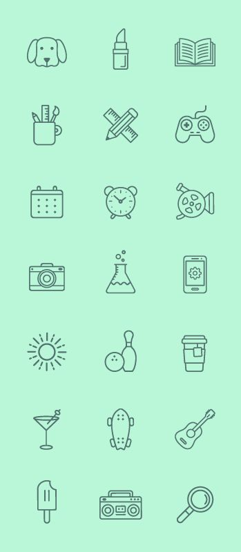 FREE LINE ICONS on Behance