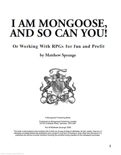 52 best suggest books images on pinterest recommended books book i am mongoose and so can you by matthew sprange is a book on setting up a role playing game publisher from the co founder of mongoose publishing fandeluxe