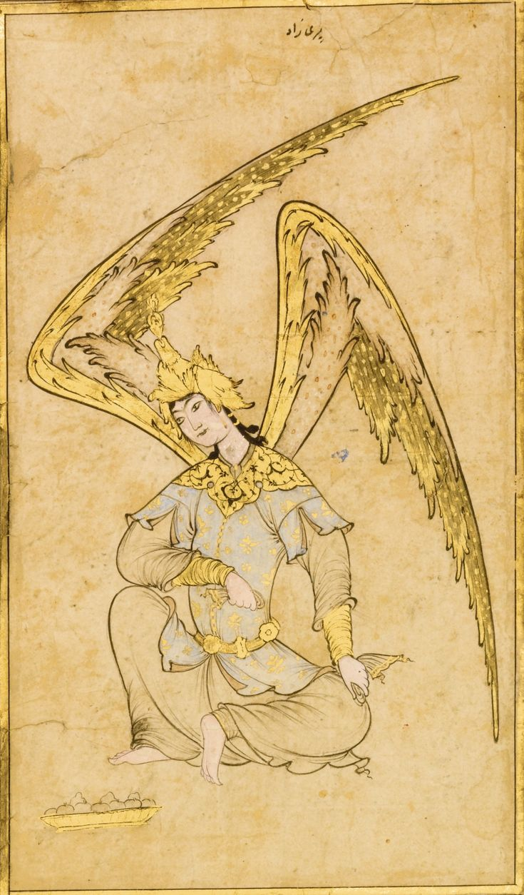 An Ottoman Drawing of a Peri, attributable to Veli Can, Turkey, 16th century
