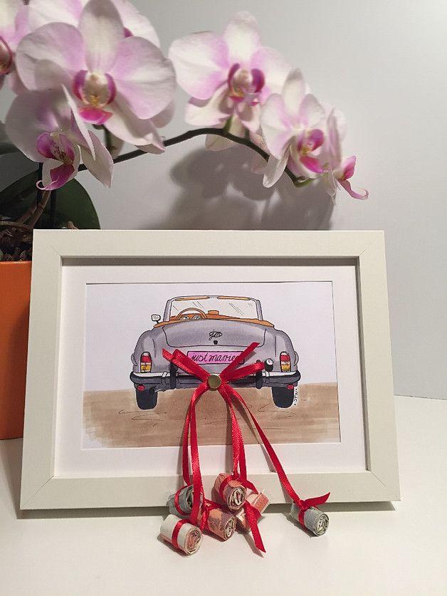Presente de casamento dinheiro presente carro Frame de retrato – dinheiro presentes – casamento – cas …