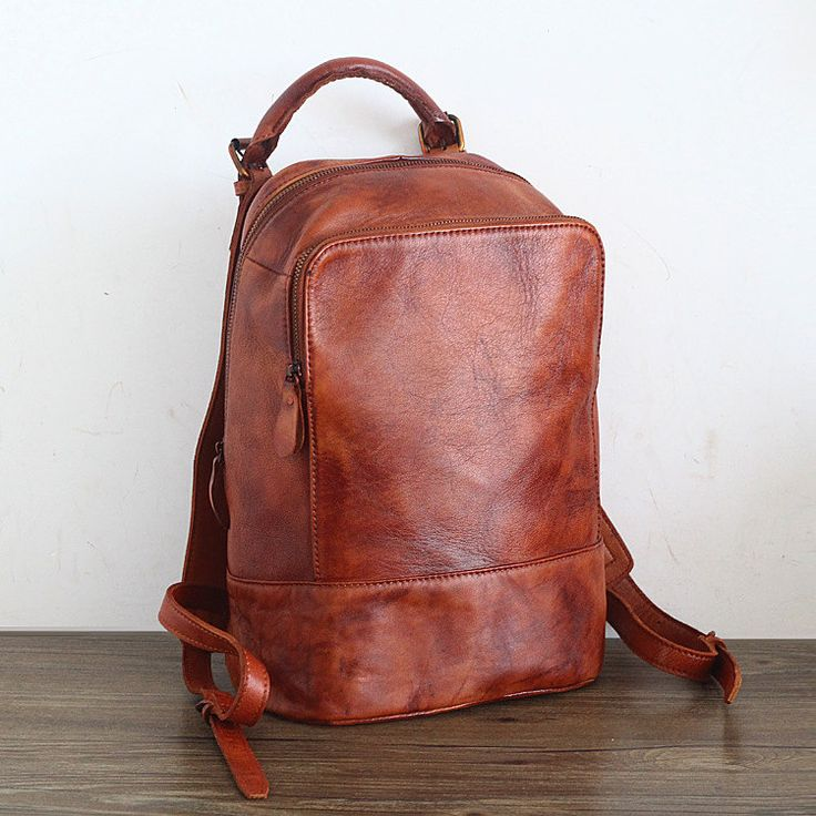 SALE! Honey Brown Leather Backpack/Brown Backpack Purse/Brown Purse/Casual Leather Backpack by FantabulousGal on Etsy