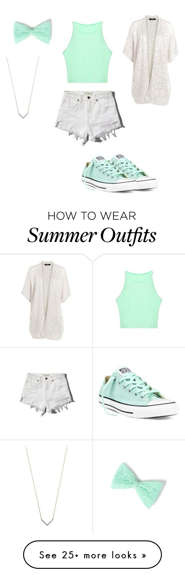 """Casual Summer Outfit"" by hannahjorstad on Polyvore featuring Abercrombie & Fitch, Adina Reyter, claire's, Steffen Schraut, Converse, women's clothing, women, female, woman and misses"
