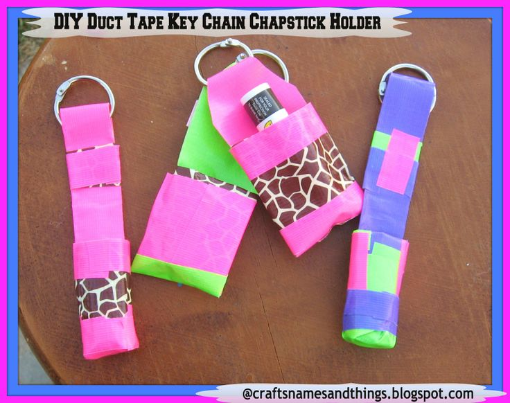DIY Duct Tape key chain chap stick holders @ Crafts, Names, And Things!