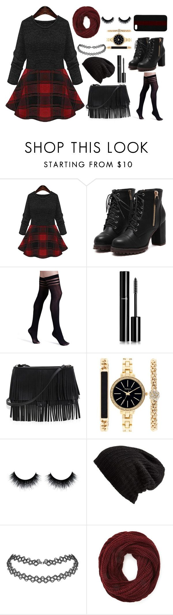 """""""red"""" by kovacslilla on Polyvore featuring Alice + Olivia, Chanel, White House Black Market, Style & Co., Free People, Forever 21 and Maison Takuya"""