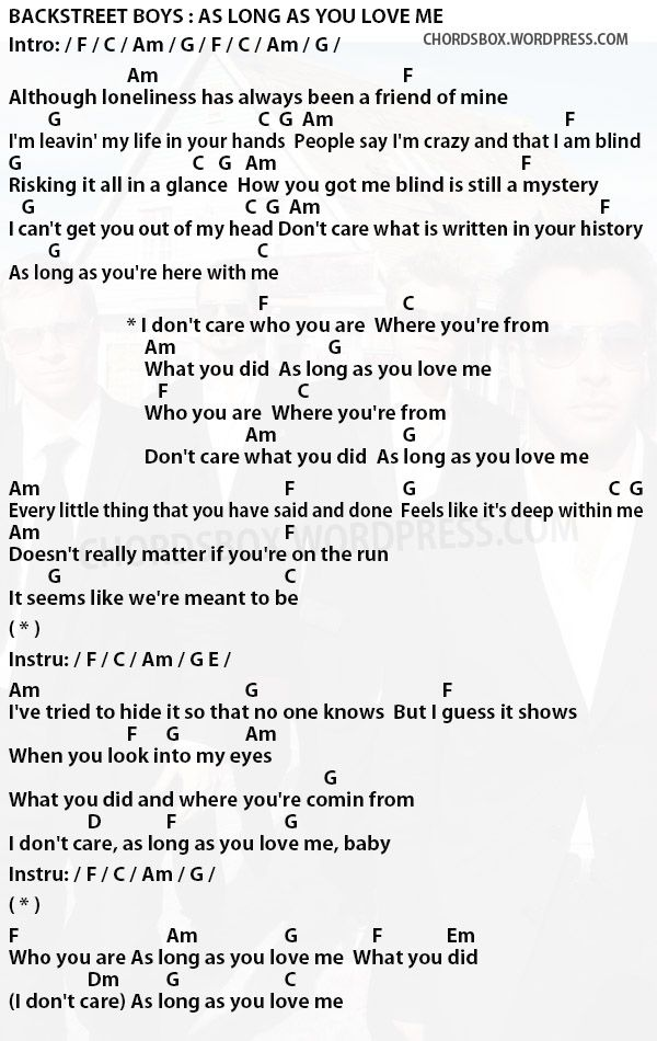 Image Result For As Long As You Love Me Chords With Images My Love
