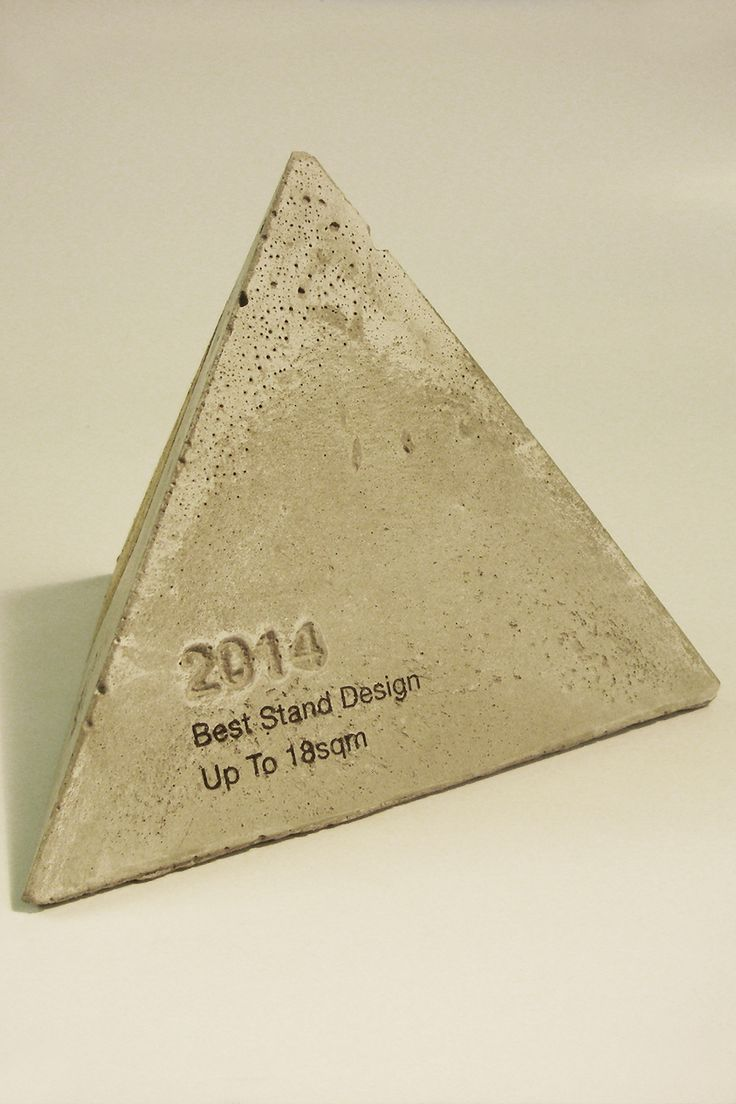 Concrete Trophy for Axolotl by Design Awards