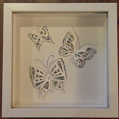 3D Box Frame Handmade Picture - Butterflies