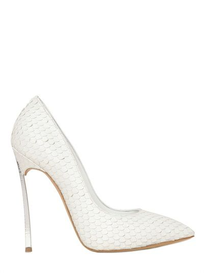 CASADEI - 120MM CALF PYTHON EFFECT BLADE PUMPS