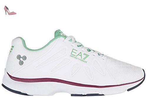 Emporio Armani EA7 chaussures baskets sneakers femme c-cube vigor blanc EU 37 278068 6A258 00110 - Chaussures emporio armani (*Partner-Link)