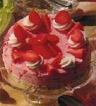 Aardbeien ijstaart