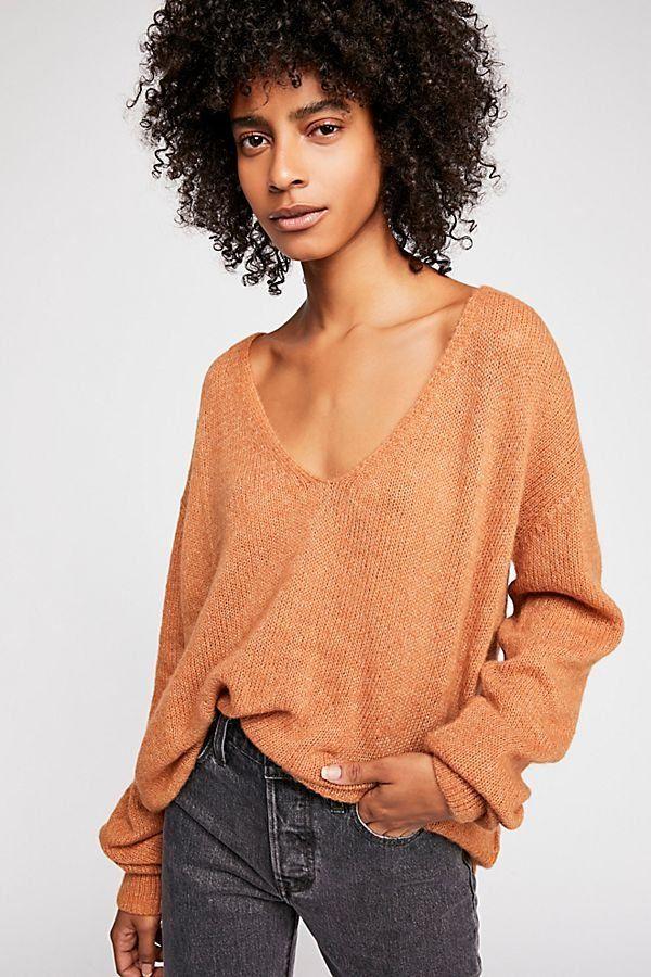 0a5e8db11b9321 About Love V-Neck Sweater - Cozy Oversized Light Brown V-Neck Sweater