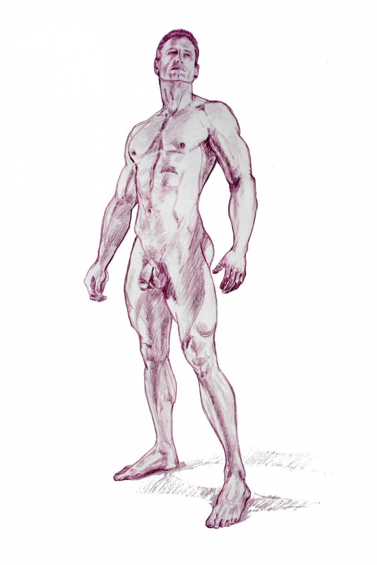 Drawing of a naked guy #10