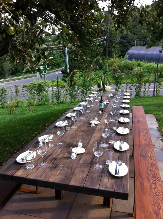 Barcelona Fairfield Garden table, Outdoor tables, Rustic