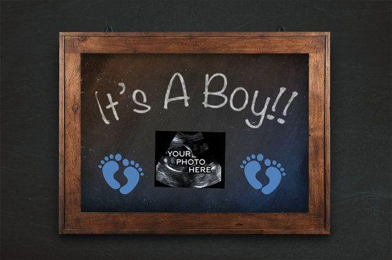 Gender Reveal Pregnancy Announcement, It's a Boy, ultrasound, sonogram…